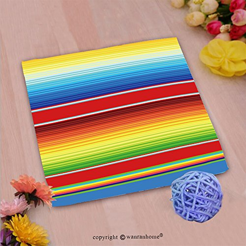 n Microfiber Ultra Soft Hand Towel-colorful mexican serape blanket seamless pattern vector Custom pattern of household products(10