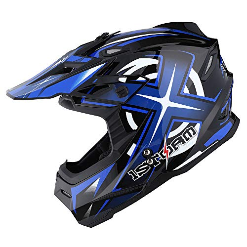 1Storm Adult Motocross Helmet BMX MX ATV Dirt Bike Helmet
