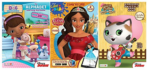 Bundle of 3 Coloring and Activity Books - Doc McStuffins, Elena of Avalor, and Sheriff Callie