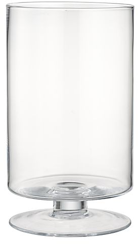 London Wide Tall Glass Hurricane Candle Holder in Candle Holders | Crate and Barrel
