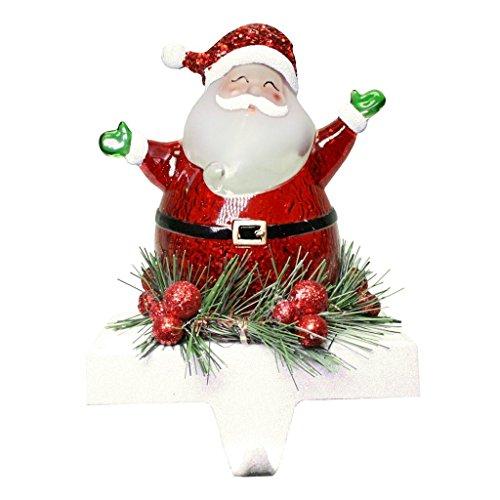 - Jolly Santa LED Light-up 7 inch Stocking Holder Christmas Figurine Decoration