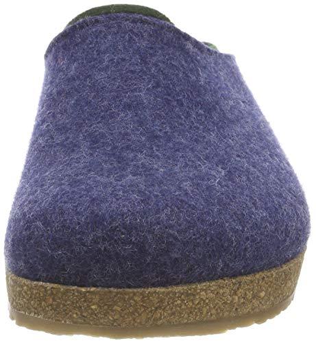 Bleu 72 Mules Grizzly Femme Haflinger Jeans Kris Chaussons qXSBZw