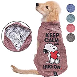 Snoopy Dog Clothes Hoodie |Lightweight Sweatshirt for Dogs & Cats in 5 Different Sizes and Styles |Supreme Hoodies for Dogs, Puppy to XL Pets Dog Sweatshirts for Small, Medium and Large