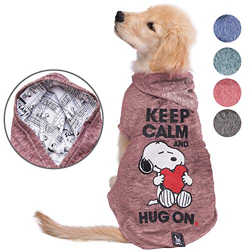 ZOOZ PETS Snoopy Dog Clothes Hoodie – Lightweight Sweatshirt for Dogs & Cats in 5 Different Sizes and Styles – Supreme…