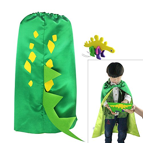 Toddler Dinosaur Costumes (iROLEWIN Dinosaur Cape - Pretend Cosplay Animal Dress Up Costumes - Kids,Toddler (Green Dino Cape))