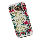 Cuitan Durable TPU Soft Case Cover for Samsung Galaxy S6 Edge G9250, Premium Quality Anti-scratch Back Cover Protective Case Cover Shell Sleeve for Samsung Galaxy S6 Edge G9250 - Colorful Lace