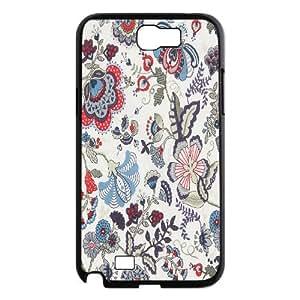 {FLORAL PATTERN Series} Samsung Galaxy Note 2 Cases 50d0f62d2268b6408a778d168a83fb88, Case Vety - Black