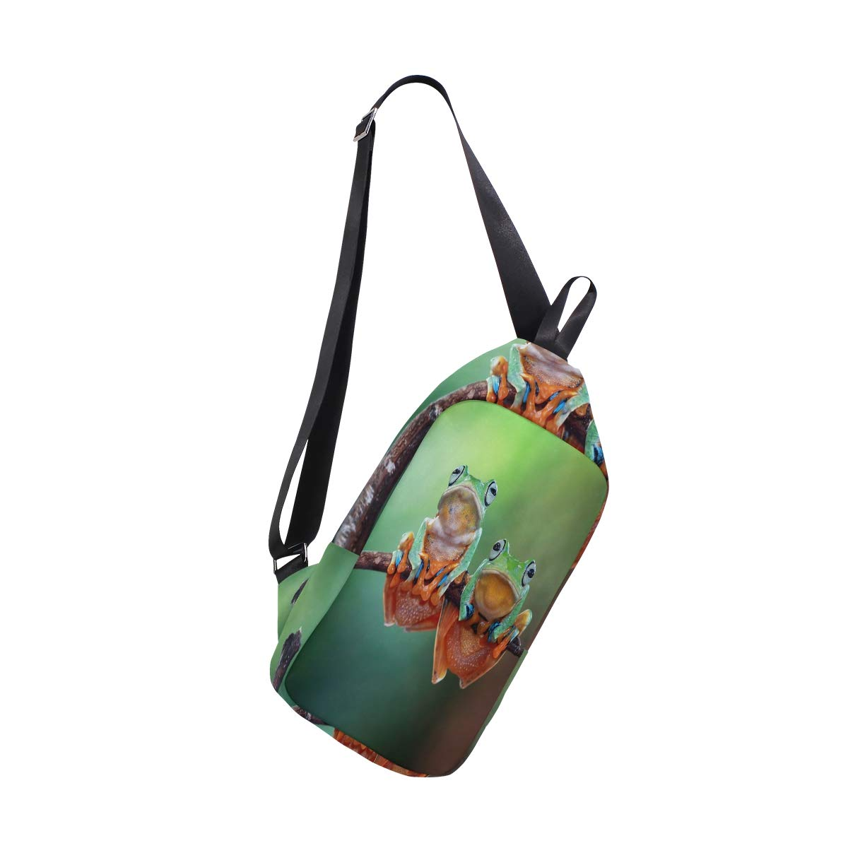 TFONE Funny Animal Tree Frog Crossbody Bag Lightweight Chest Shoulder Messenger Pack Backpack Sling Bag
