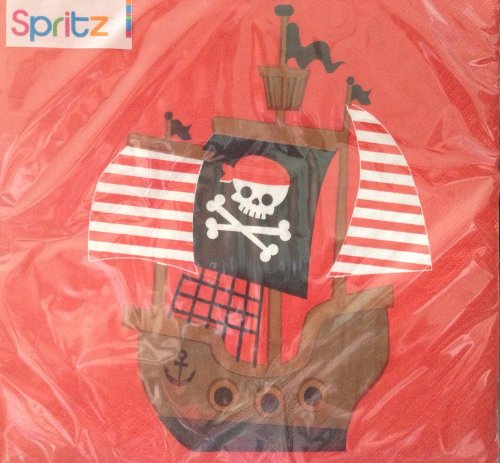 [Pirate Ship Party Napkins 16 2plyncount Luncheon Napkins] (Pirate Partyware)
