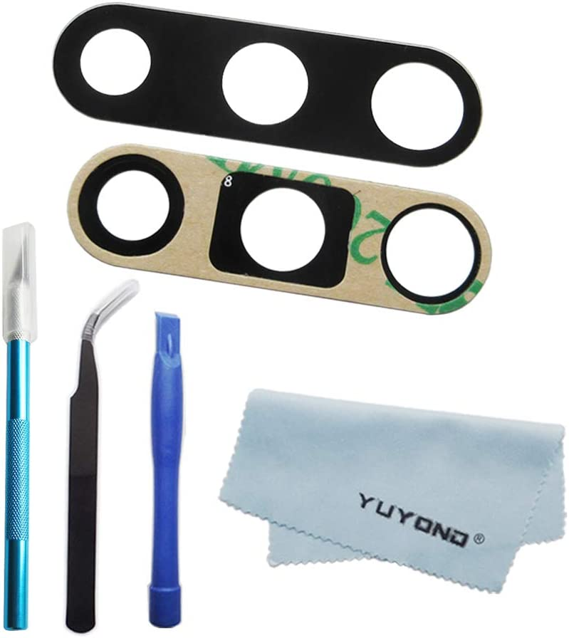 YUYOND OEM Original Back Rear Camera Glass Lens Replacement for Samsung Galaxy Note 10 and Note 10 Plus (All Carriers) with Adhesive Pre-Installed + Tools Kit + Clean Cloth