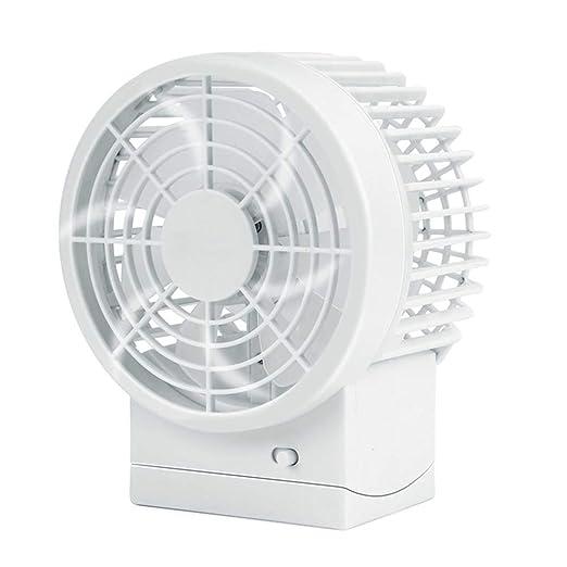 Gran Ventilador de Escritorio USB, Tersely Doble Cuchillas Portátil Mini Ventilador Quiet Fan de Mesa Ventilador Personal PC / Laptop Ventilador de ...