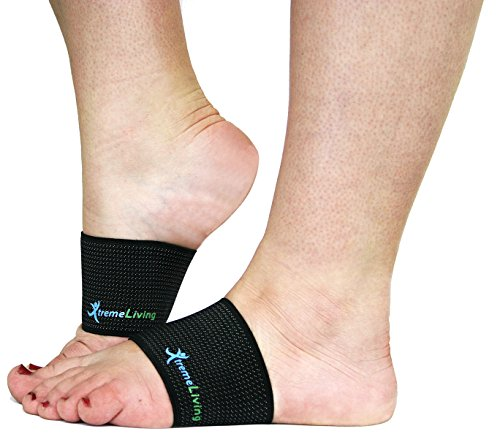 Plantar Fasciitis Copper Compression Arch Support Sleeve **Guaranteed Highest Copper Content ** 1 Pair by Xtreme Living
