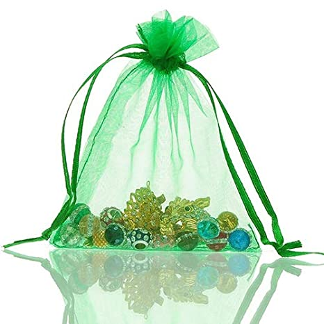 BRUSSELS08/ 50/ pz sheer Drawstring organza Jewelry Pouches wedding favor Bags party festival sacchetti di caramelle regali gioielli della campioni display con coulisse sacchetti regalo Wrap borse