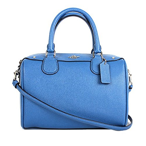MINI BENNETT SATCHEL IN CROSSGRAIN LEATHER (Lapis) by Coach