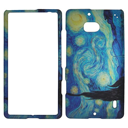 Nokia Cell Phone Faceplates (2D Blue Design Nokia Lumia Icon 929 Verizon Case Cover Hard Phone Case Snap-on Cover Rubberized Touch Protector Faceplates)