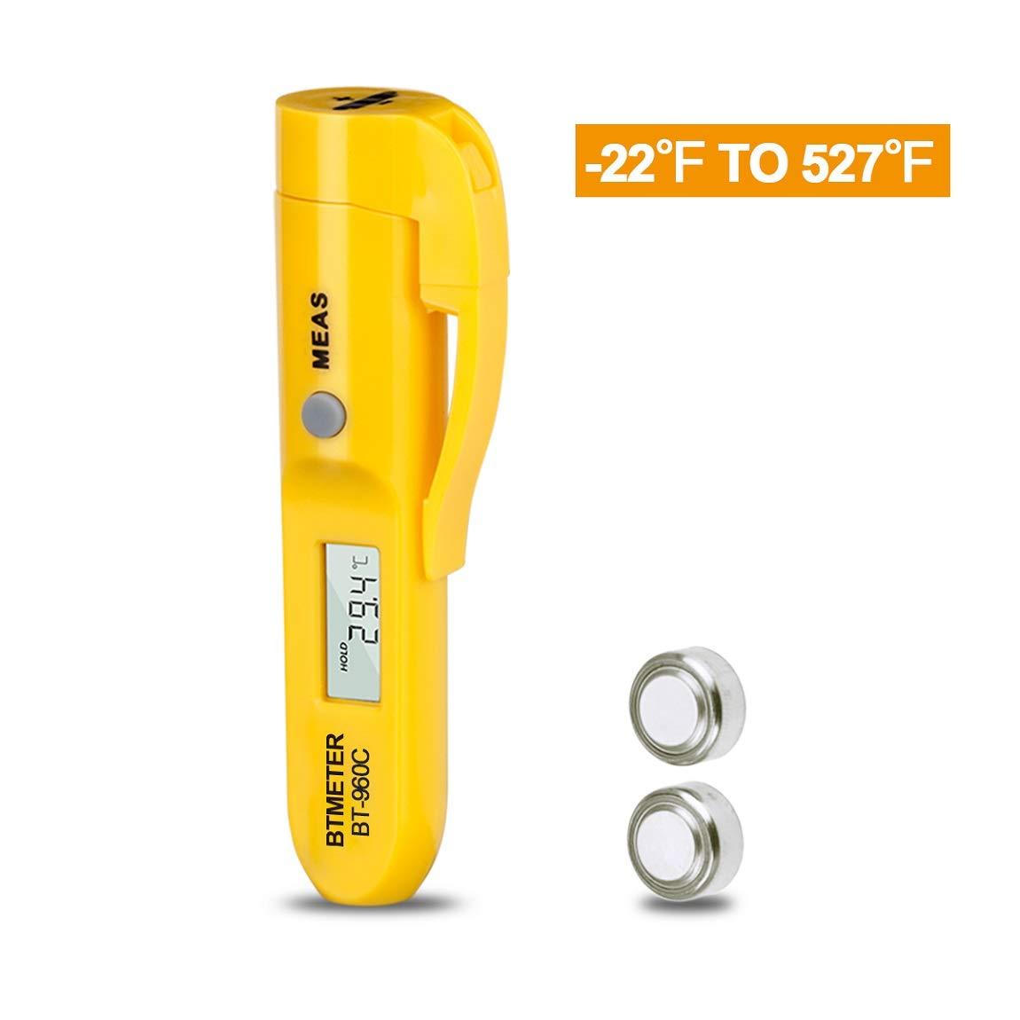 BTMETER BT-960C Digitales Infrarot-Thermometer mit Clip Mini-Temperaturstift für Kochen Küche