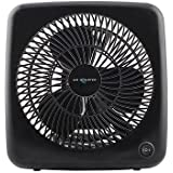 Air Monster 7-Inch 2-Speed Personal Box Fan in Black
