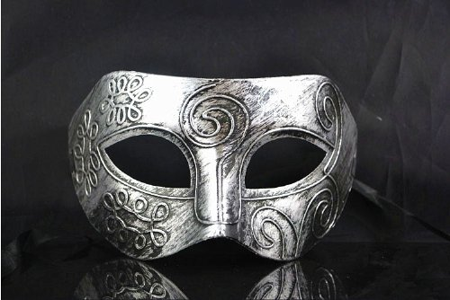 [Silver Retro Gladiator Halloween Party Masks Man Woman Children Masquerade Mask (1pc retro mask] (Male Masquerade Mask)