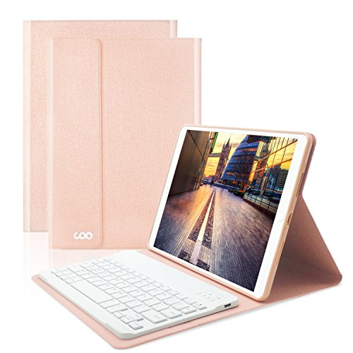 iPad Keyboard Case 9.7 for New ipad 2018(6th,Gen) iPad Pro 2017 (5th,Gen) /iPad Air 2/iPad Air COO Detachable Wireless Bluetooth Keyboard and Slim Shell Magnetic Cover with Apple Sleep/Wake(Champagne)