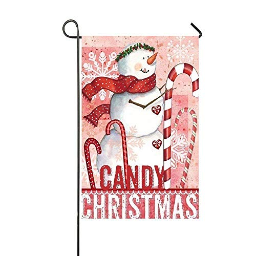 Brownnrio Candy Christmas Pink Snowman Hold The Candy Cane 1
