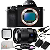 Sony Alpha a7S Mirrorless Digital Camera + Sony Vario-Tessar T* FE 24-70mm f/4 ZA OSS Lens + 9 Piece Essentials Bundle Kit