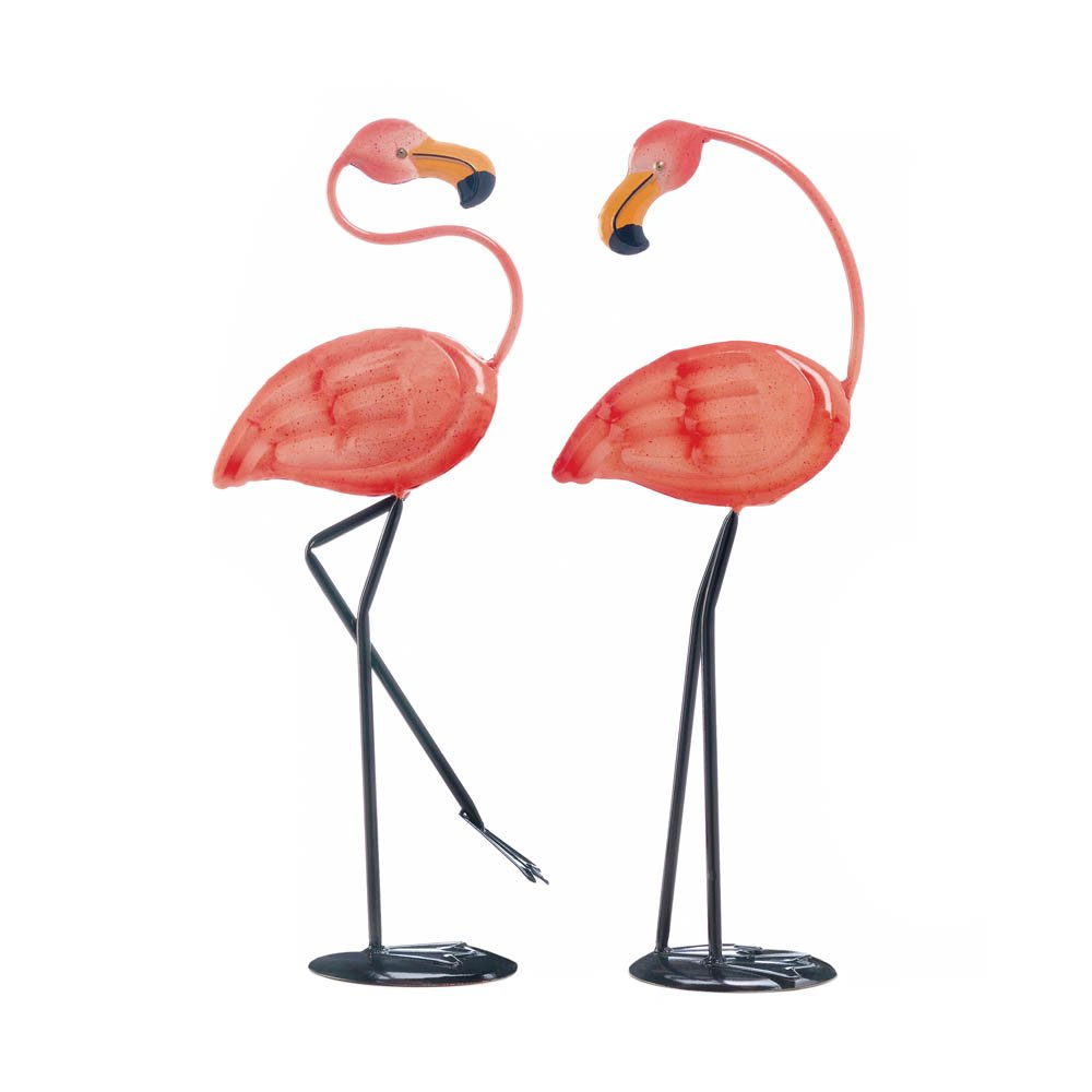 Smart Living Metal Pink Flamingo Set