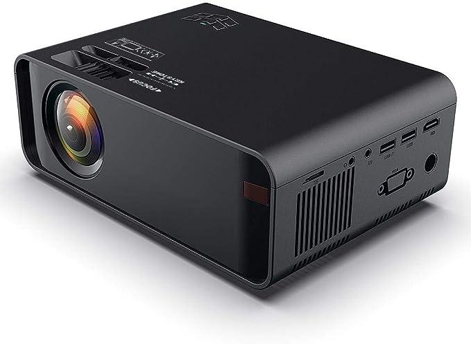 Wendry Mini Projector, 720p 3D HD Proyector LCD portátil HD Negro ...