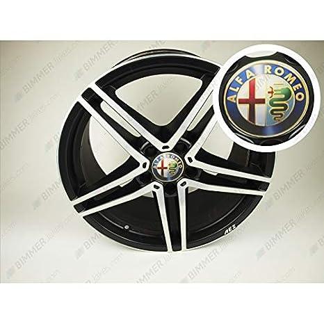 Bjakes Alfa Romeo - Tapacubos para Centro de Bicicleta (75 mm, 4 Unidades)