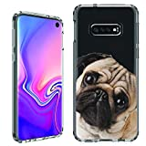 'Galaxy S10e Case [Pug''s Tilting](Clear) PaletteShield Flexible Slim TPU Skin Phone Cover (fit Samsung Galaxy S10e)'