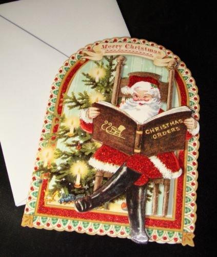 amazon com punch studio embellished holiday christmas cards 10 ct