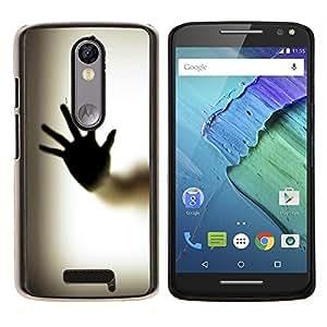 EJOOY---Cubierta de la caja de protección para la piel dura ** Motorola Moto X3 3rd Generation ** --Cuerpo de la mano de Palm Ventana de huellas dactilares Arte
