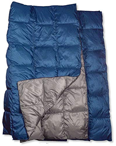 The Big Blue Mtn Lightweight Puffy Camping Blanket for Hiking