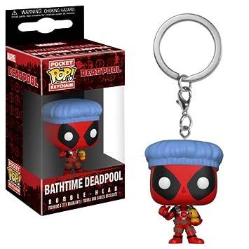 Pop! Keychain Deadpool - Llavero Bathtime Deadpool