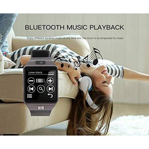 Aeifond Smart Watch DZ09 Bluetooth Smartwatch Touch Screen Wrist Watch Sports Fitness Tracker with Camera SIM SD Card Slot Pedometer Compatible iPhone iOS Samsung LG Android Kids Men Women (Black)