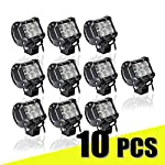 "LED Light Bar, [10 Pack]4"" inch 18W CREE led pods Flood LED Pods Fog Lights LED Work Lights Bar Flood Beam 30 Degree Driving Fog Lights for Off-road, Truck, Car, ATV, SUV, Jeep"
