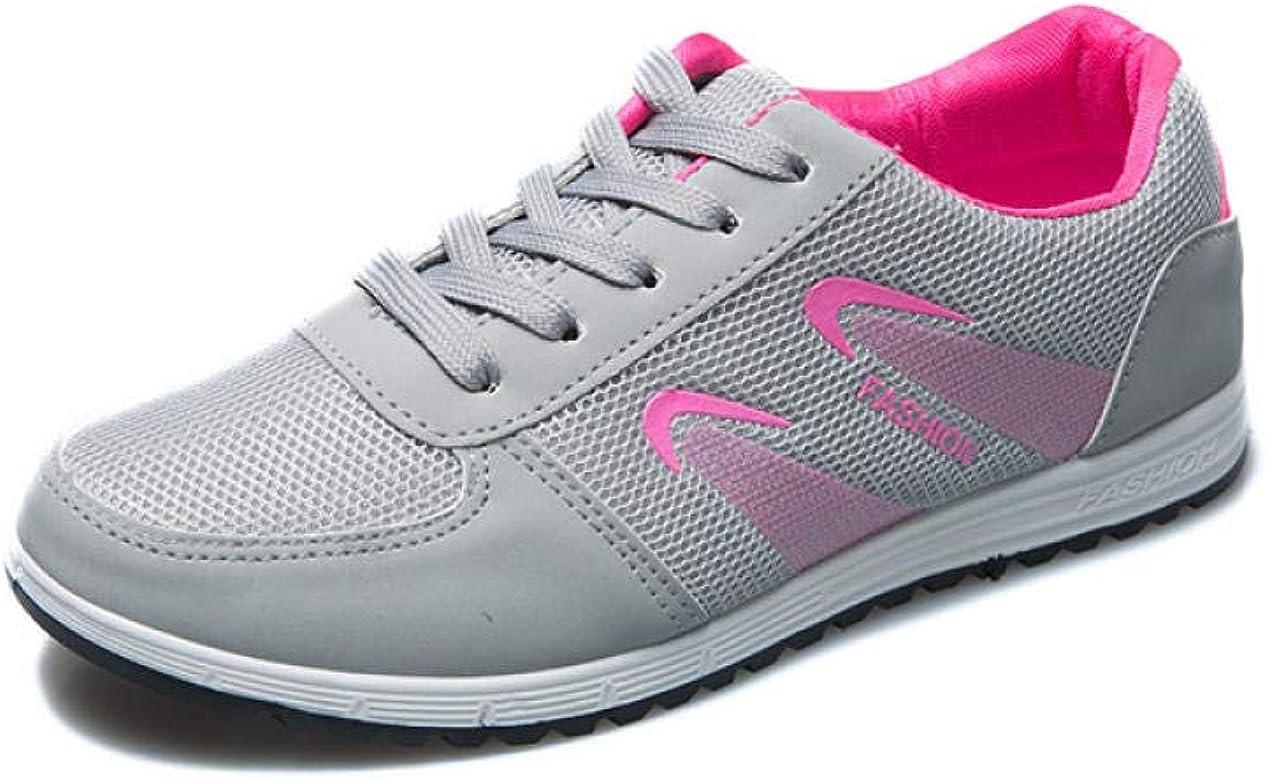Zapatillas de Deporte para Mujer, Zapatos Sencillos de Malla cómodos, Modelos de explosión, Zapatillas Deportivas Tejidas voladoras de Moda@Malla b-2 Gris_36: Amazon.es: Zapatos y complementos