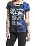 Search : Faaaashion Shirts For Women Short Sleeve Cotton Lace up Patchwork Skull Gothic Rock T Shirt Tops