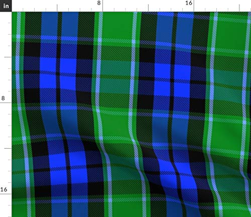 Spoonflower Tartan Fabric - Graham Menteith Monteith Menteath Plaid Scottish Print on Fabric by The Yard - Petal Signature Cotton for Sewing Quilting Apparel Crafts Decor