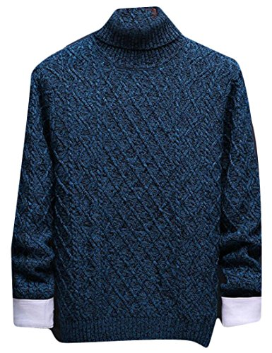 Neck amp;S Men's Turtle M Sweater Sleeve 2 amp;W Pullovers Knitting Fashion Long x6dUYw