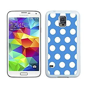 BINGO discount Polka Dot Blue and White Samsung Galaxy S5 Case White Cover