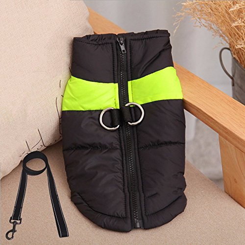 Green 7.5-12.5KG green 7.5-12.5KG Autumn and winter dog dog clothes, cotton clothes, a small dog pet dog of medium size winter clothes,green,7.5-12.5KG
