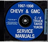 COMPLETE & UNABRIDGED 1997 - 1998 CHEVY TRUCK & PICKUP REPAIR SHOP & MAINTENANCE MANUAL CD - Includes C/K Series, Blazer, Tahoe, Suburban & Yukon