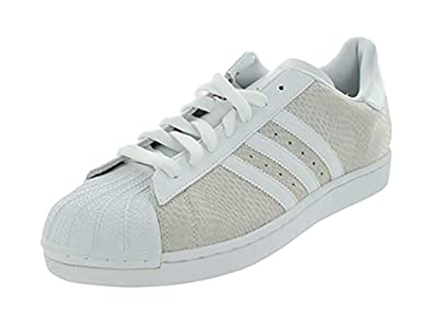 020129589a45 ADIDAS Originals Superstar 1 Mens Shoes Leather Reptile Sneakers Shell Toe  White