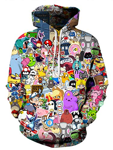 (Azuki Unisex Fashion 3D Digital Printed Pullover Hoodies)
