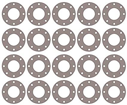 Pack of 20 Pressure Class 300# 1//32 Thick 5 Pipe Size Tan Sterling Seal CFF7540.5IN.031.300X20 7540 Vegetable Fiber Full Face Gasket