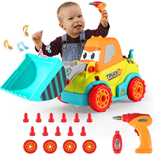 Take Apart Car Construction Toys for Kids - Build Your Own Toy Car with Sounds, Lights and Drill Tool for 3 4 5 6 7 Years Old Boys & Girls