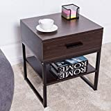 TANGKULA Night Stand Wood End Table Beside Table for Bedroom