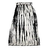 Design History Womens Foldover Waist Maxi Skirt Large Onyx Combo