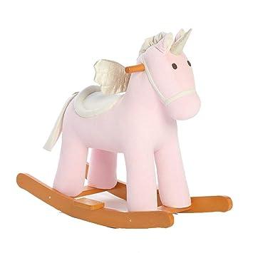 Amazon com: Yingeryaoyi Baby Unicorn Wood Horse Child Shake