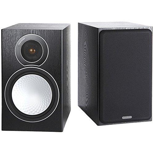 Monitor Audio Silver 2 - Par de caixas acústicas Bookshelf 2-vias para Home Theater Preto